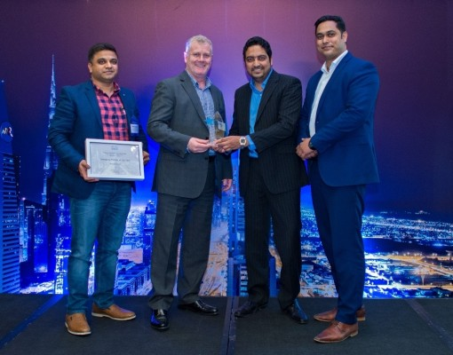 The ISYX team receives the Cisco Emerging Partner of the year award