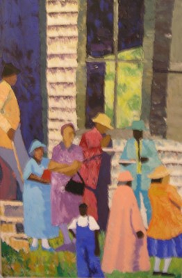 Church Picnic by Dane Tilghman, Premier Painter of the African American Experience
