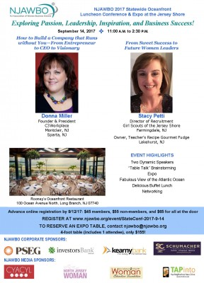 NJAWBO 2017 Statewide Oceanfront Conference & Expo at the Jersey Shore for Women Business Owners