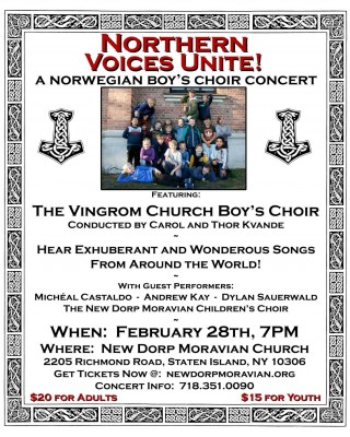 "New Dorp Moravian Church & Majestic Castle Music Productions Present ""Northern Voices Unite!"""