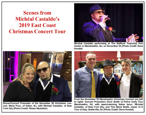 Italy Christmas Tours 2020 Michéal Castaldo's 2019 Christmas Concert Tour Raises over $41K