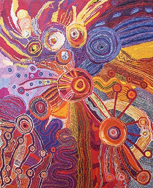 DON'T FORGET TO SING! Aboriginal Art aus den Western APY Lands