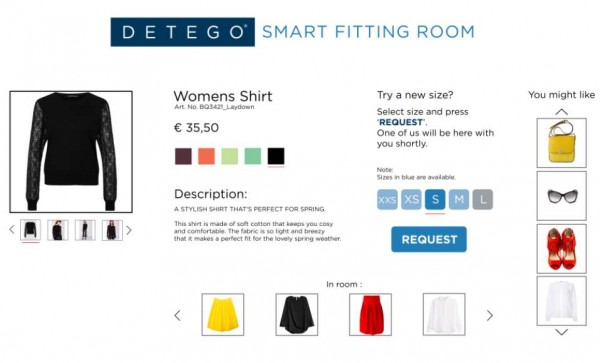 © Detego/ Smart Fitting Room Application