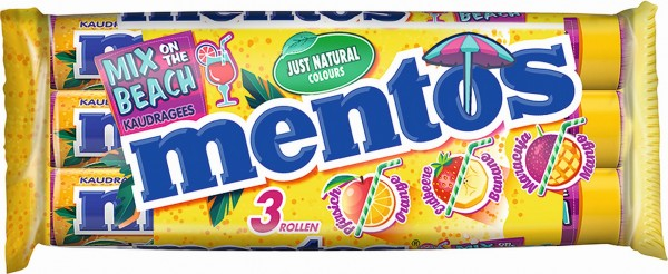 Mentos Mix on the beach