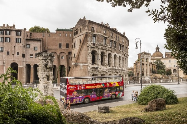 Rome Sightseeing Pass includes hop-on hop-off bus and Colosseum skip-the-line entry.