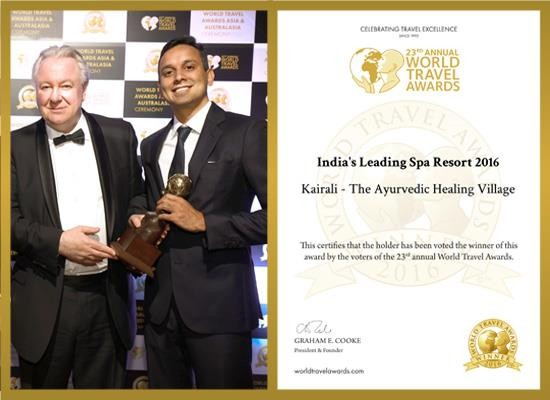 "Kairali Ayurvedic Group honoured as ""India's Leading Spa Resort"" for the 2nd time"