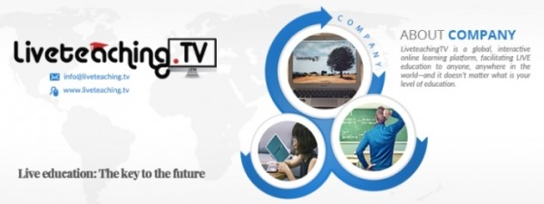 LiveteachingTV is a global interactive online learning platform facilitating LIVE education to anyone, at any level.