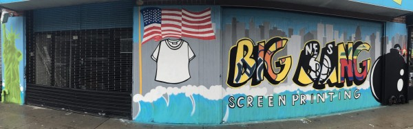 Big Bang Screen Printing Storefront In Brooklyn New York
