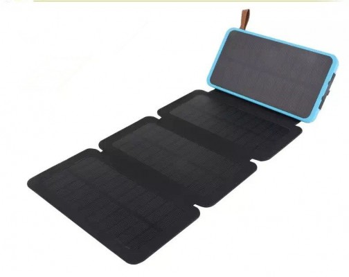 Solar battery charger with solar panels