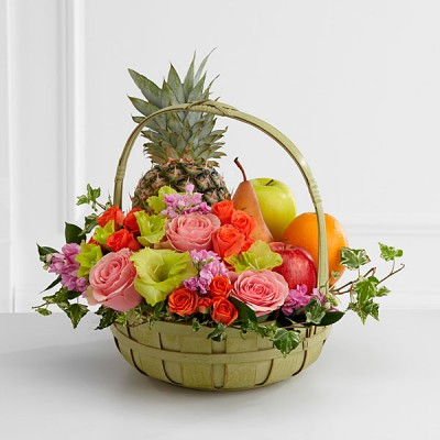 Flower with Fruits Basket