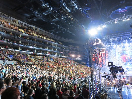 The 2013 LoL World Championship finals at the Staples Center in LA
