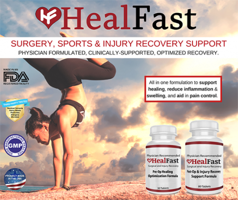 Get HealFast Surgery & Injury Recovery Supplement today at Indiegogo today! Lowest prices now as supplies last.