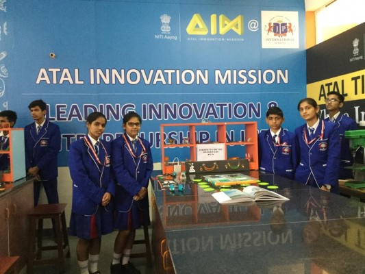 The inauguration of ATAL TINKERING LAB at JP International School, Greater Noida